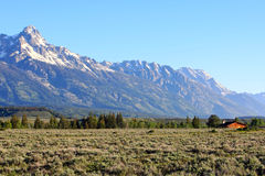 Teton Mountain Royalty Free Stock Photography