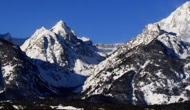 Teton Mountain Peaks of the Grand Tetons in Grand Tetons National Park in Wyoming Stock Photos