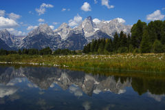 Teton mountain range Royalty Free Stock Photography