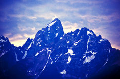 Teton Mountains. Photograph of the Teton mountains in summertime royalty free stock image
