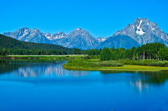 Teton Mountains and the Snake River Royalty Free Stock Images