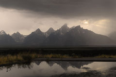 Teton Mountains Storm Stock Photography