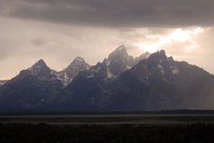 Teton Mountains Storm Stock Image