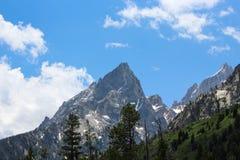 Teton moutain峰顶,大蒂顿国家公园 库存图片