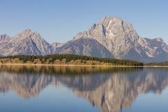 Teton national park. Jackson Lake in grand Teton national park Wyoming royalty free stock image