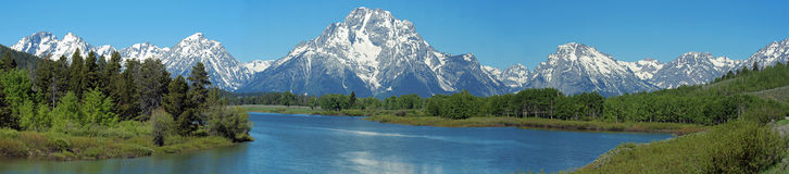 Teton Panorama Stockbild
