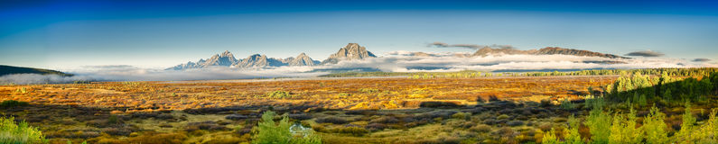 Teton Panorama Royalty Free Stock Photos