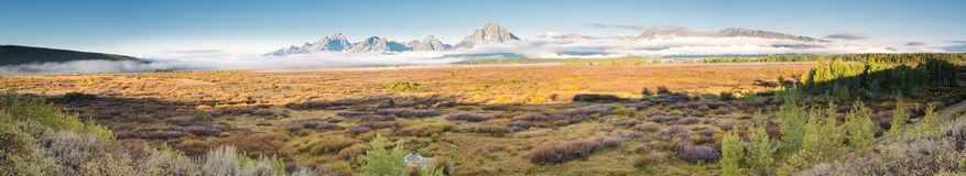 Teton Panorama Royalty Free Stock Photography