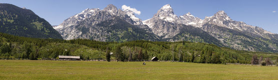 Teton panoramique Images stock