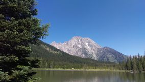 Teton Peak Behind String Lake Royalty Free Stock Photo