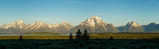 Teton Range at Dawn Stock Image