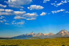Teton Range on Jackson Lake Stock Photography
