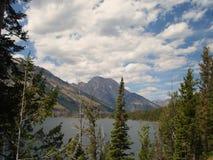 Teton Range and Jenny Lake royalty free stock photos