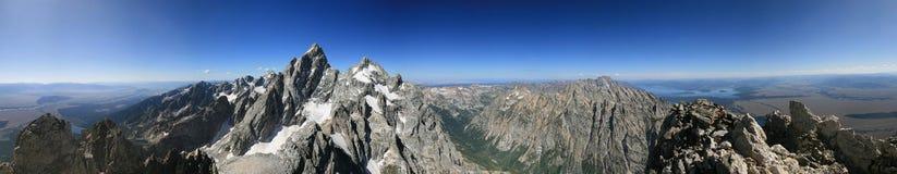 Teton Range Panorama Royalty Free Stock Image