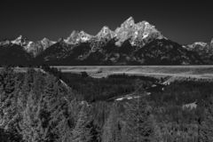 The Teton Range and the Snake River, Wyoming royalty free stock photo