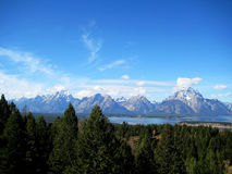 Teton range (Wyoming, USA). Some peaks of the Teton Range, located between Wyoming and Idaho (USA Royalty Free Stock Photo