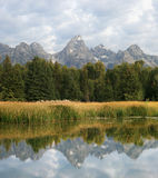 Teton reflection Stock Photo