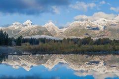 Teton Reflection in Autumn Royalty Free Stock Image