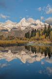 Teton Reflection in Autumn Stock Photo