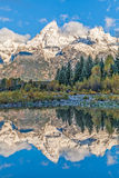 Teton Reflection in Fall Royalty Free Stock Photos