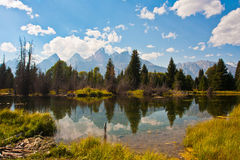 Teton Reflection in Grand Teton National Park Stock Photo