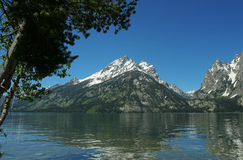 Teton reflection, Jenny Lake Royalty Free Stock Photos