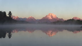 Teton Reflection at Sunrise stock video