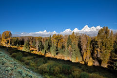 Teton Scenic Fall Landscape Royalty Free Stock Images
