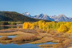 Teton Scenic Landscape in Fall Royalty Free Stock Image