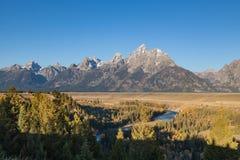 Teton Scenic Landscape Vista in Fall Stock Photos