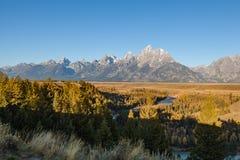 Teton Scenic Vista in Fall Royalty Free Stock Photography