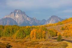 Teton scenico Autumn Landscape immagini stock libere da diritti