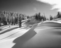 Teton Snow Drifts Royalty Free Stock Photos