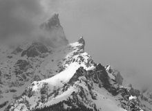 Teton storm. Storm moving in on the Tetons Royalty Free Stock Images