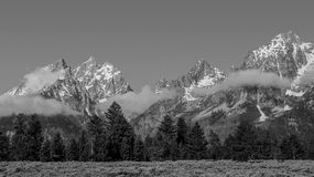 Teton-Strecke, Nebel Lizenzfreies Stockbild