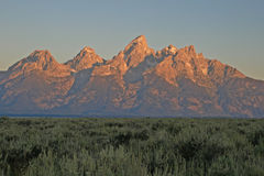 Teton sunrise Royalty Free Stock Photo