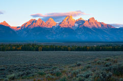 Teton Sunrise Stock Photo