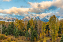 Teton Sunrise in Fall Royalty Free Stock Photography