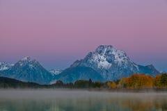 Teton Sunrise in Fall Royalty Free Stock Image