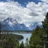Teton view from Signal Mountain Summit Road Stock Image
