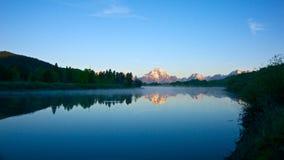 Tetons河全景  库存图片