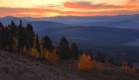 tetons восхода солнца сигнала mounain Стоковая Фотография RF