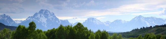 tetons парка грандиозного соотечественника панорамные Стоковые Изображения