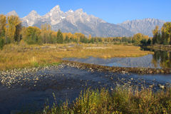 Tetons In Autumn Royalty Free Stock Images