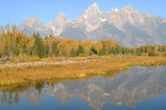 The Tetons In Autumn Stock Image