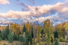 Tetons Autumn Sunrise Royalty Free Stock Photo