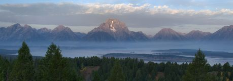 The Tetons At Dawn Royalty Free Stock Photo
