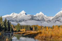 Tetons in Fall Stock Image