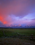 Tetons&Fence#2 Stock Images