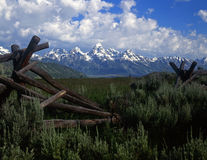 Tetons&Fence#4 Stock Photo